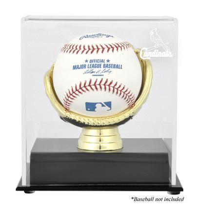 Single Baseball (BH-10 Gold Glove) Display Case with St. Louis Cardinals Logo