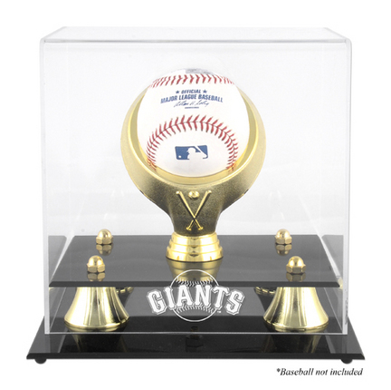 Golden Classic (BH-4 Gold Ring) Baseball Display Case with San Francisco Giants Logo