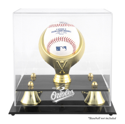 Golden Classic (BH-4 Gold Ring) Baseball Display Case with Baltimore Orioles Logo