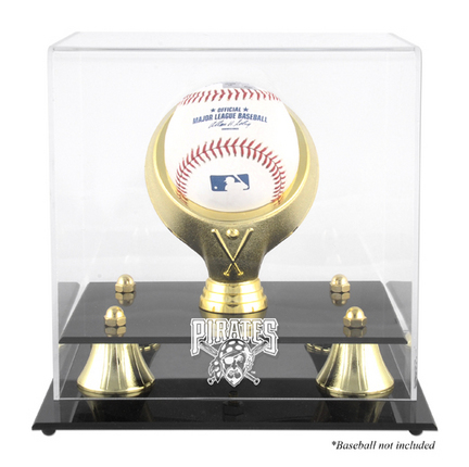 Golden Classic (BH-4 Gold Ring) Baseball Display Case with Pittsburgh Pirates Logo