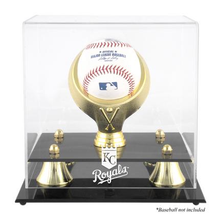 Golden Classic (BH-4 Gold Ring) Baseball Display Case with Kansas City Royals Logo