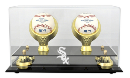 Golden Classic 2-Baseball Display Case with Chicago White Sox Logo