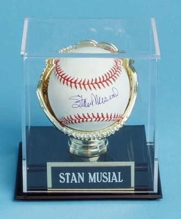 Single Baseball Display Case (glove holds the baseball)