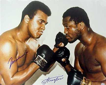 "Muhammad Ali and Joe Frazier Autographed 16""x 20"" Photograph (Unframed)"