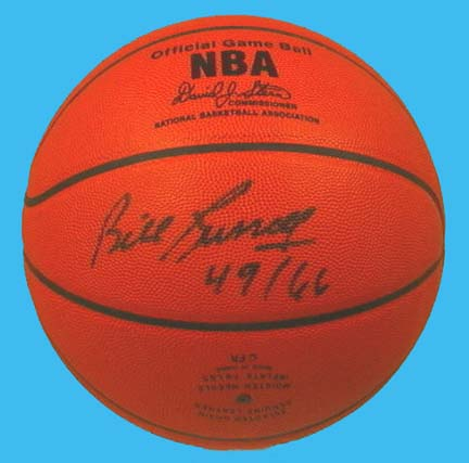 Bill Russell Autographed Pro Basketball