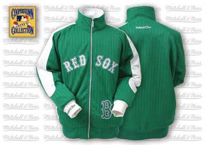 Boston Red Sox Change Up Track Jacket from Mitchell and Ness
