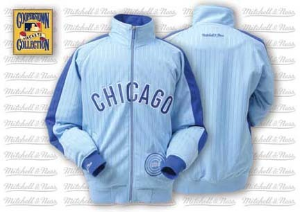 Chicago Cubs Change Up Track Jacket from Mitchell and Ness