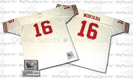 1989  49ers White  NFL Jersey