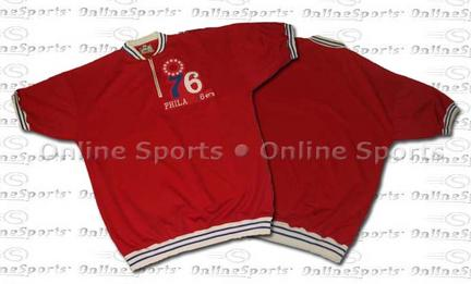 1967 Philadelphia 76ers Throwback Warm-Up Pullover From Mitchell and Ness