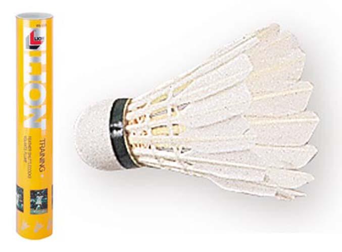 Lion Training Feather Badminton Shuttlecocks - 1 Dozen