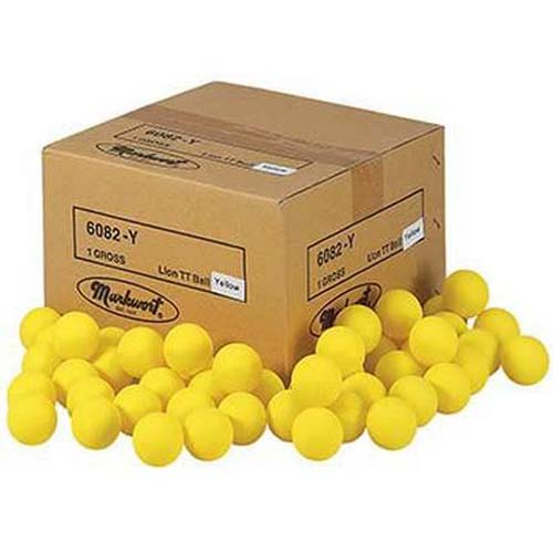 Yellow Lion Table Tennis Practice Balls - 1 Gross