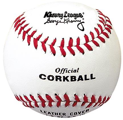 "6 1/2"" White Khoury League Corkballs from Markwort - (One Dozen)"