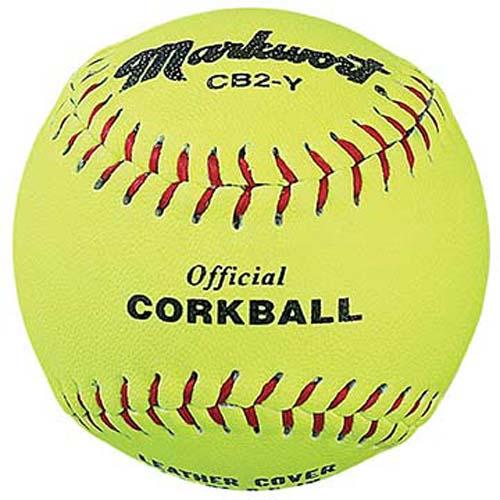 """6 1/2"""" Official Yellow Corkballs Teampak from Markwort - (One Dozen)"""