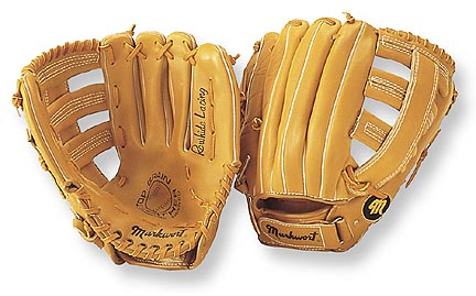 "13"" Triple Wide-T Web Softball Glove with Wrist Strap from Markwort - (Worn on Right Hand) Sports Gear"