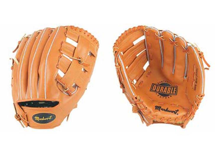"""12"""" Triple-T Open Web Infield / Outfield Adult Baseball Glove from Markwort - (Worn on Left Hand)"""