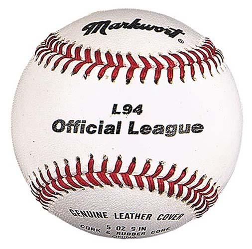 "9"" Official League Baseballs from Markwort - (One Dozen)"