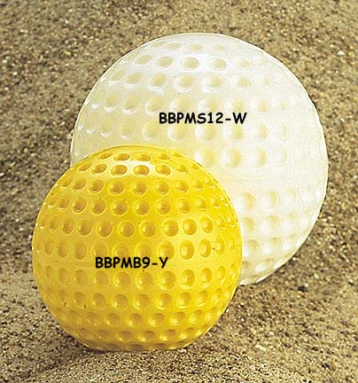"9"" Pitching Machine Dimple Range Baseballs from Markwort - (One Dozen)"