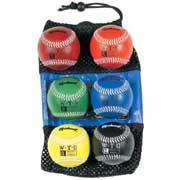 """9"""" Weighted Synthetic Leather Baseballs from Markwort - (Set of 6)"""