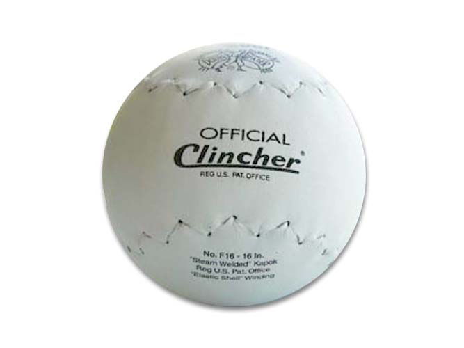 16 inch Official Clincher Leather Softball from deBeer