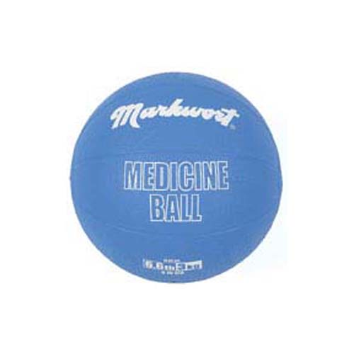 Rubber Medicine Training Ball from Markwort - 6.6 lbs/3 kg