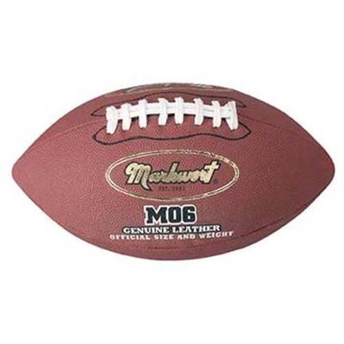Official Size Genuine Leather Football from Markwort