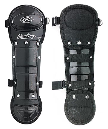 "10"" Youth Size Single Knee Cap Leg Guards from Rawlings - One Pair"