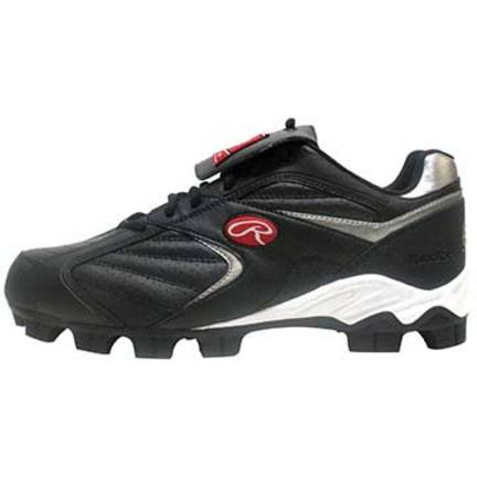 Boy's Low Clubhouse Cleat Shoes from Rawlings (Black)