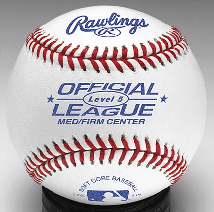 Official AA League Soft Core Synthetic Cover Baseballs from Rawlings  MediumFirm Center  One Dozen