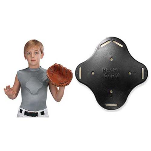 Heart-Gard Protective Body Shirt (Youth Sized Guard - GREY - Clamshell Package)