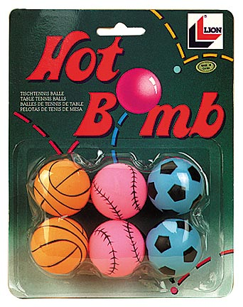 Hot Bomb Table Tennis Balls from Lion - (6 packs / 36 Balls Total)