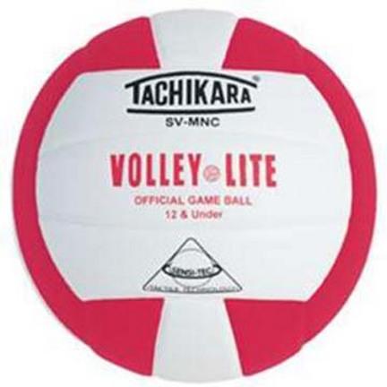 "Tachikara ""Volley-Lite"" Sensi-Tec Composite Leather Volleyball  (Scarlet / White)"