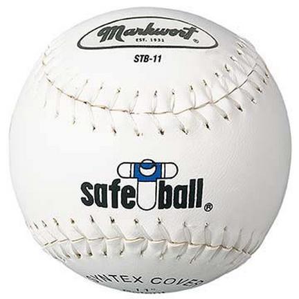 "11"" Yellow Safe-T-Ball Softballs from Markwort - 1 Dozen"