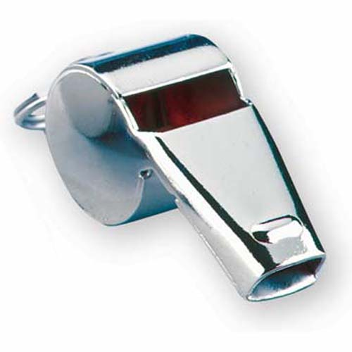 """Markwort Low Cost Nickel Plated Tapered 1.9"""" Whistles - 1 Dozen"""