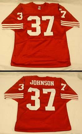Jimmy Johnson, San Francisco 49ers  Authentic Football Jersey