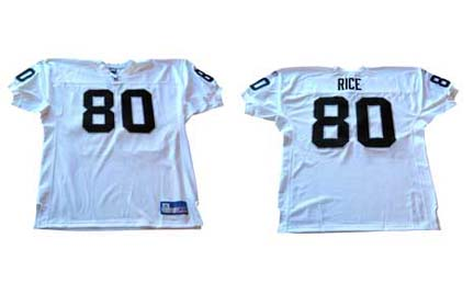 Jerry Rice Oakland Raiders Authentic Reebok NFL Football Jersey (White)