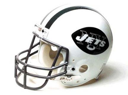 New York Jets (1965-1977) Riddell NFL Authentic Throwback Pro Line Full Size Football Helmet  (Namath Era)
