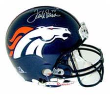 Terrell Davis, Denver Broncos Official Riddell Pro Line Autographed Authentic Full Size Football Helmet