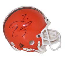 Tim Couch, Cleveland Browns Autographed Riddell Authentic Mini Football Helmet NAT-2433