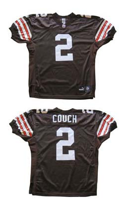 Tim Couch, Cleveland Browns  Authentic Puma Football Jersey