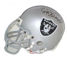 "Fred Biletnikoff, Oakland Raiders Autographed Riddell Authentic Mini Football Helmet - Signed """"SB XI MVP"" NAT-1890"