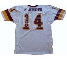 Brad Johnson, Washington Redskins Official NFL Autographed Authentic Ripon Football Jersey