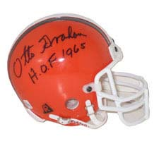 Otto Graham, Cleveland Browns Autographed Riddell Authentic Mini Football Helmet - Signed