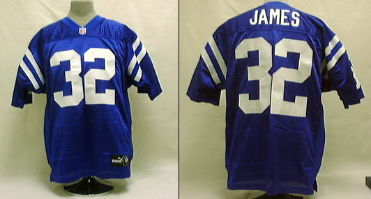 Edgerrin James, Indianapolis Colts  Authentic Puma Football Jersey