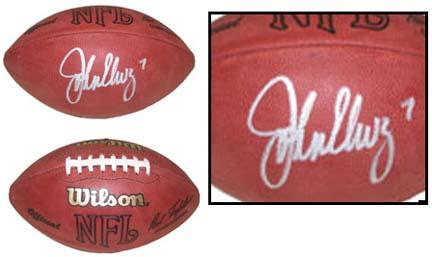 John Elway Autographed Official Wilson NFL Game Football