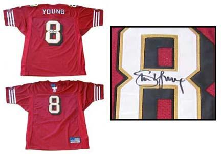710d9adbb Steve Young Autographed San Francisco 49ers Official NFL Authentic Jersey