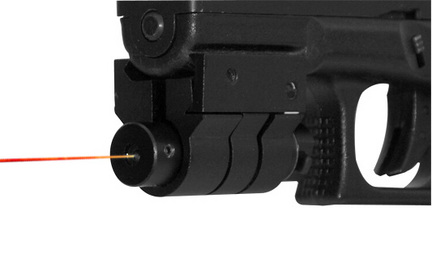 Black Red Laser Rifle Sight With Weaver Mount