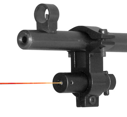Black Red Laser Rifle Sight With Universal Barrel Mount