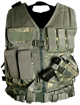 Digital Camo Tactical Vest (Larger Size, XL-XXL)