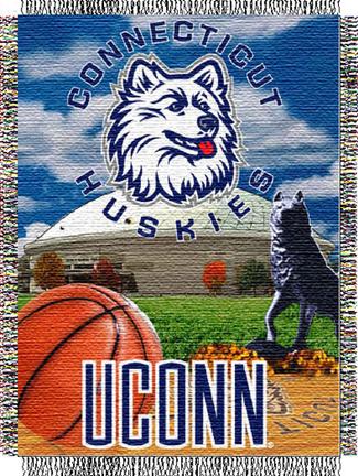 "Connecticut Huskies ""Home Field Advantage"" 48"" x 60"" Throw Blanket"