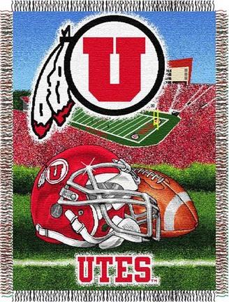 Utah Utes Home Field Advantage 48 x 60 Throw Blanket